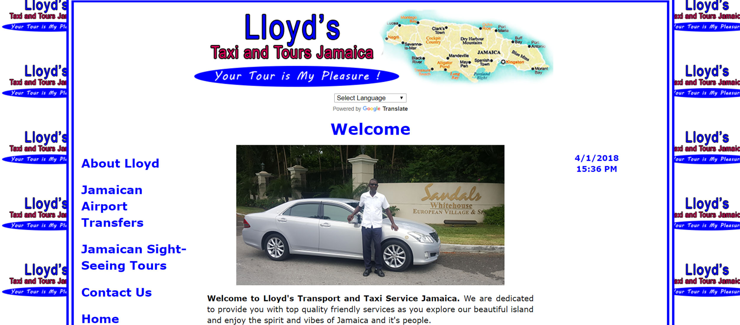 Lloyd's Taxi and Tours Jamaica by Barry J. Hough S.r